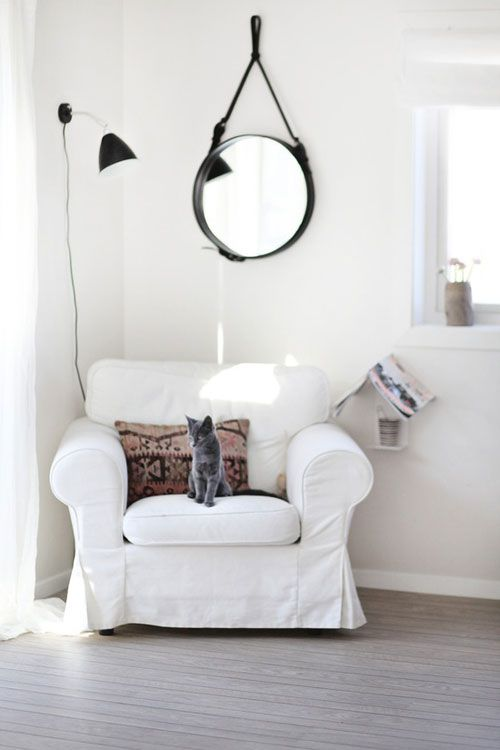 white armchair designer brand or ikea space pinterest