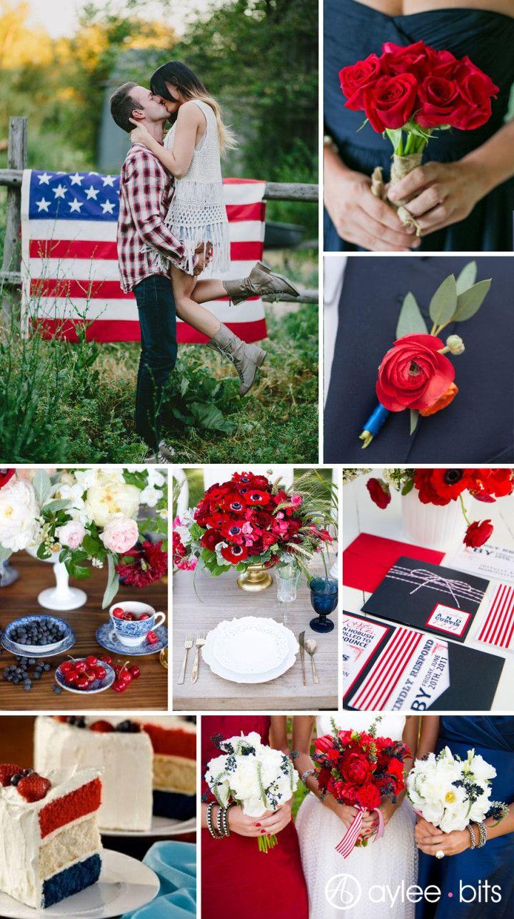 Fourth of July wedding inspiration board Patriotic