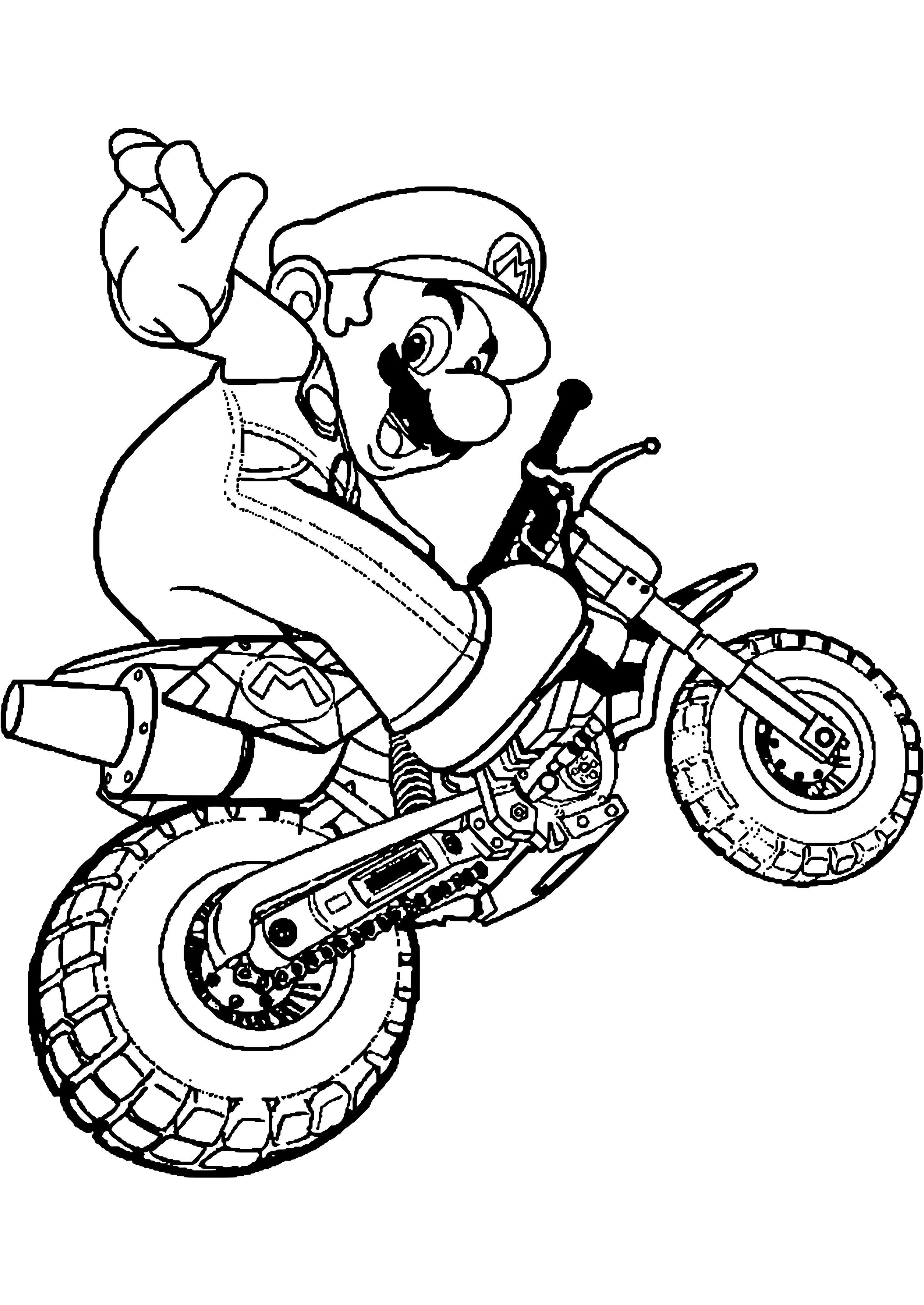 coloriage moto dessins coloriages l