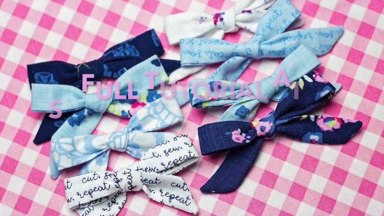 Easy skinny headband bow fabric tutorial youtube how