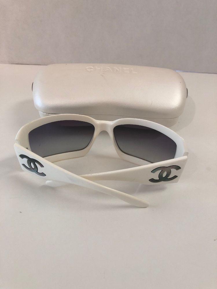 4f53794fad61e Authentic CHANEL Mother Of Pearl Cc Sunglasses 5076-H White