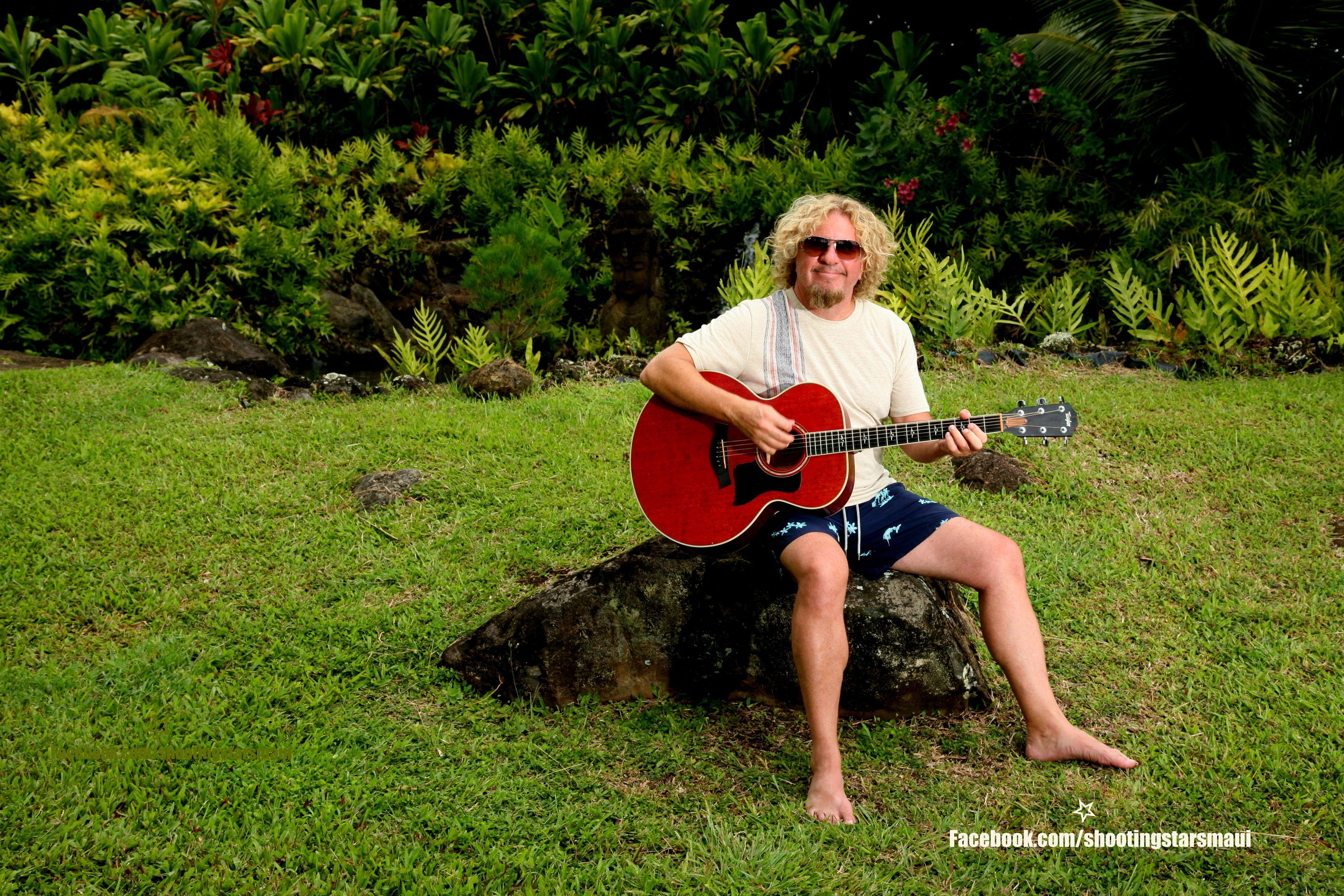 Sammy Hagar Workin On A Song In His Backyard On Maui Sammy Hagar Music Songs