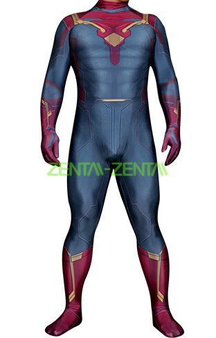 0b698a04a The Vision Costume   Printed Spandex Lycra Zentai Bodysuit ...