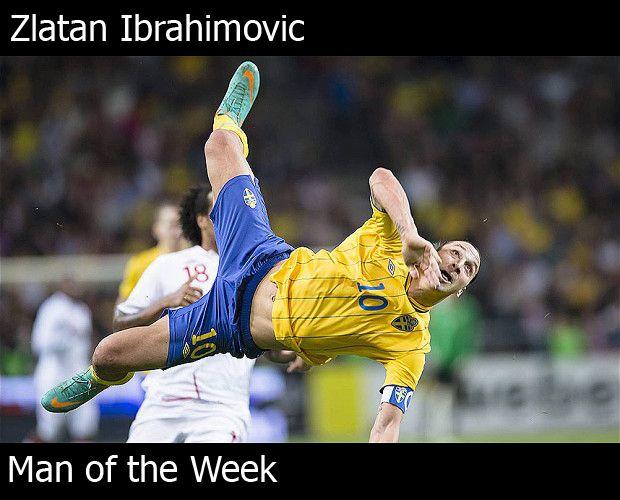Zlatan Ibrahimovic Picture Of His Amazing Goal Soccer Golatzo