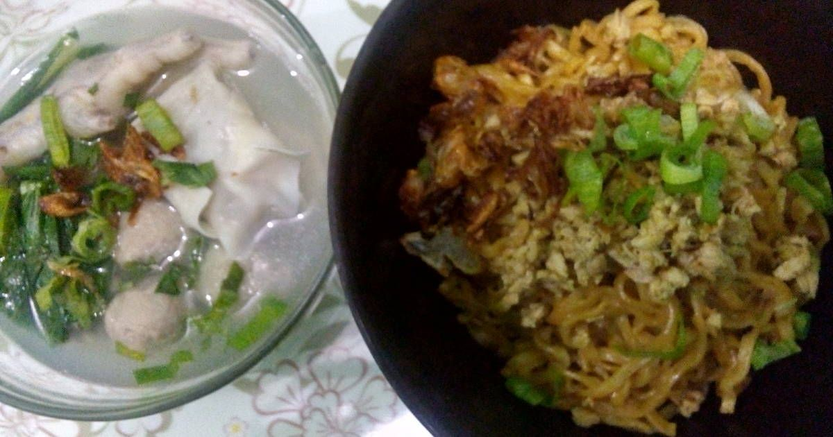 Resep Mie Yamin Manis Komplit Oleh Yugi Resep Resep Makanan Resep Tumis