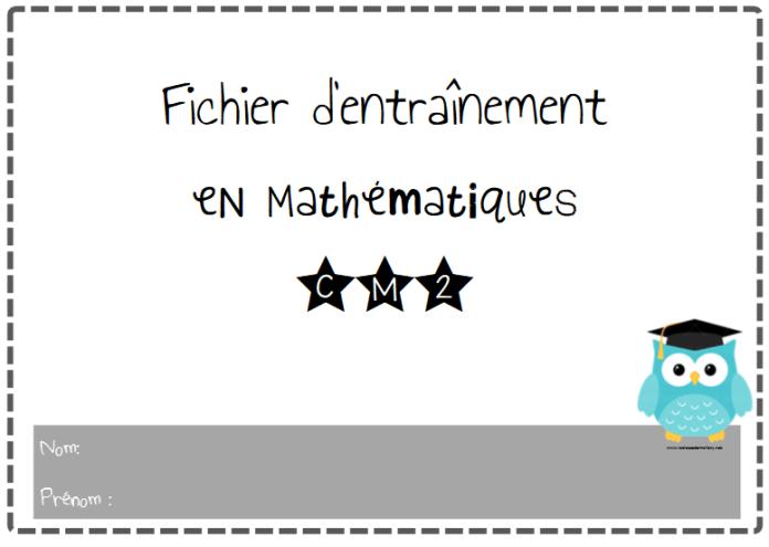 Fichier d'entraînement en Mathématiques CM2 | Exercice ...