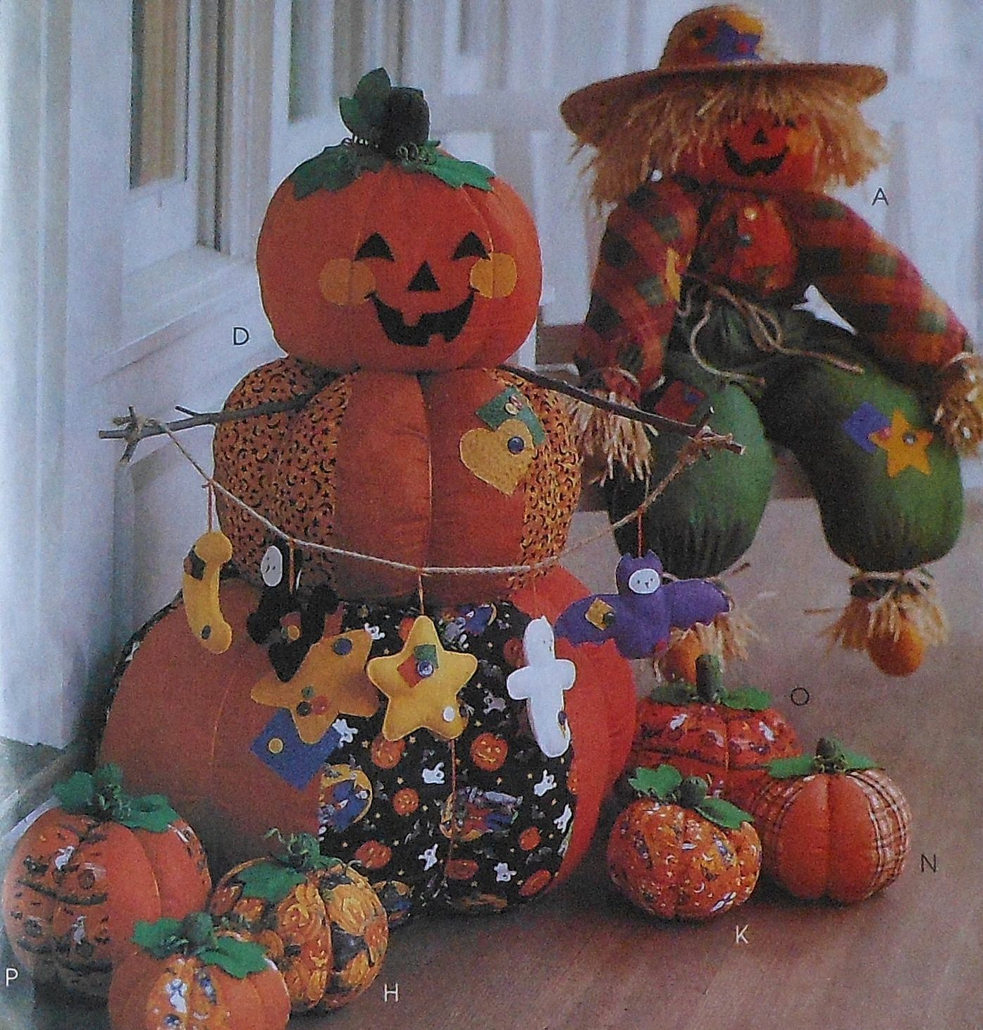 36 Scarecrow Doll And Halloween Decor Sewing Pattern