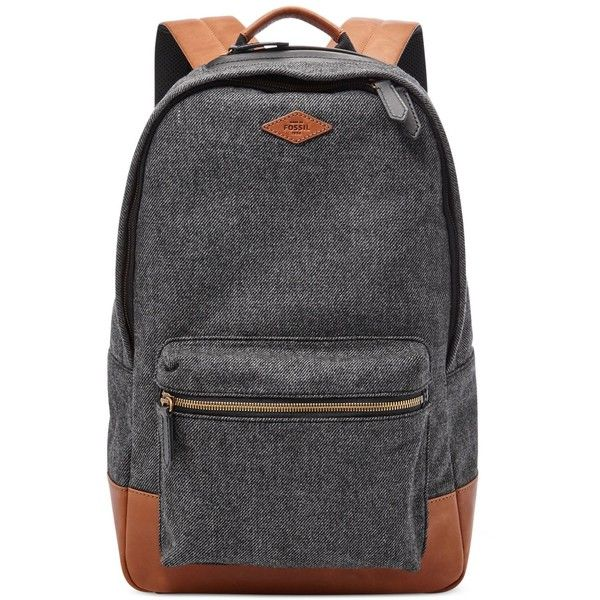723ff76b6556 Fossil Estate Backpack (43.315 HUF) ❤ liked on Polyvore featuring men's  fashion, men's bags, men's backpacks and grey