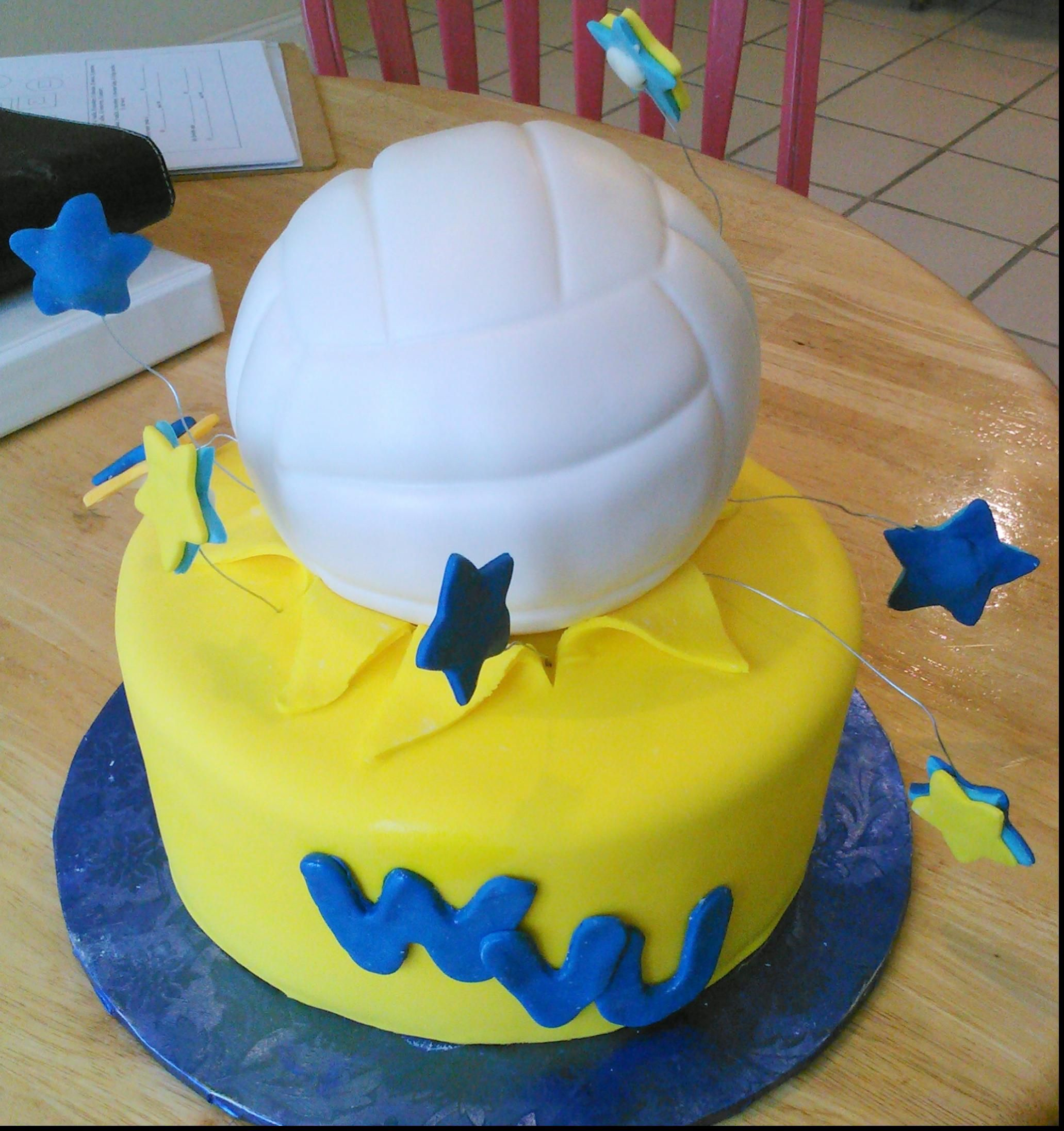 Magnificent Volleyball Birthday Cake With Wedding Cakes Greenville Sc
