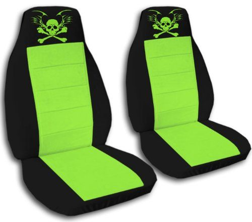 Peachy 2 Pirate Seat Covers Black And Lime Green With A Lime Green Dailytribune Chair Design For Home Dailytribuneorg