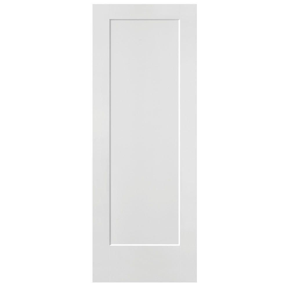 Kimberly Bay 28 In X 80 In White 1 Panel Shaker Solid: Masonite 32 In. X 80 In. Lincoln Park Primed 1-Panel Solid