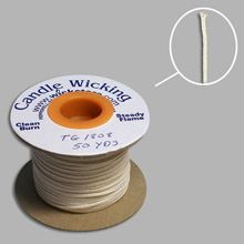 Flat/Coreless Candle Wick 50 Yard Spool - TG1808 Series