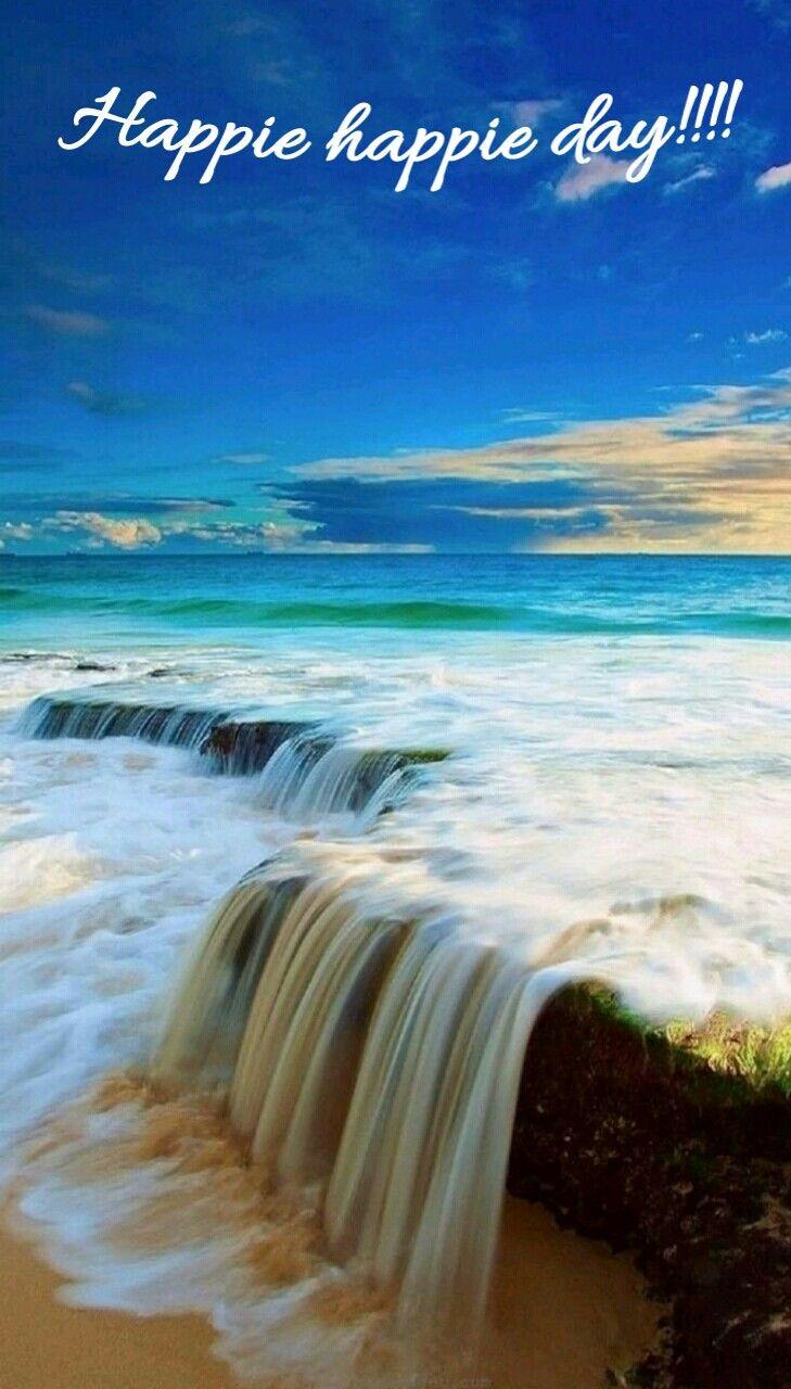 Good Morning Greetings Beautiful Places Beautiful Nature Waterfall