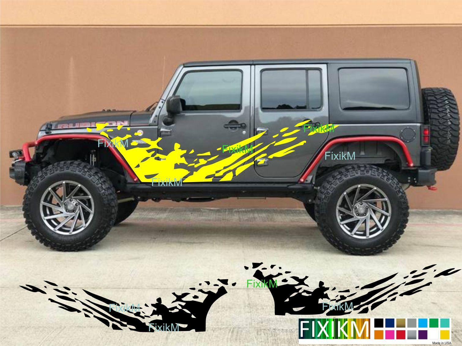 Mud Splash Side Graphics Vinyl Decal Stickers Universal Size Etsy Jeep Wrangler Accessories Jeep Decals Wrangler Accessories