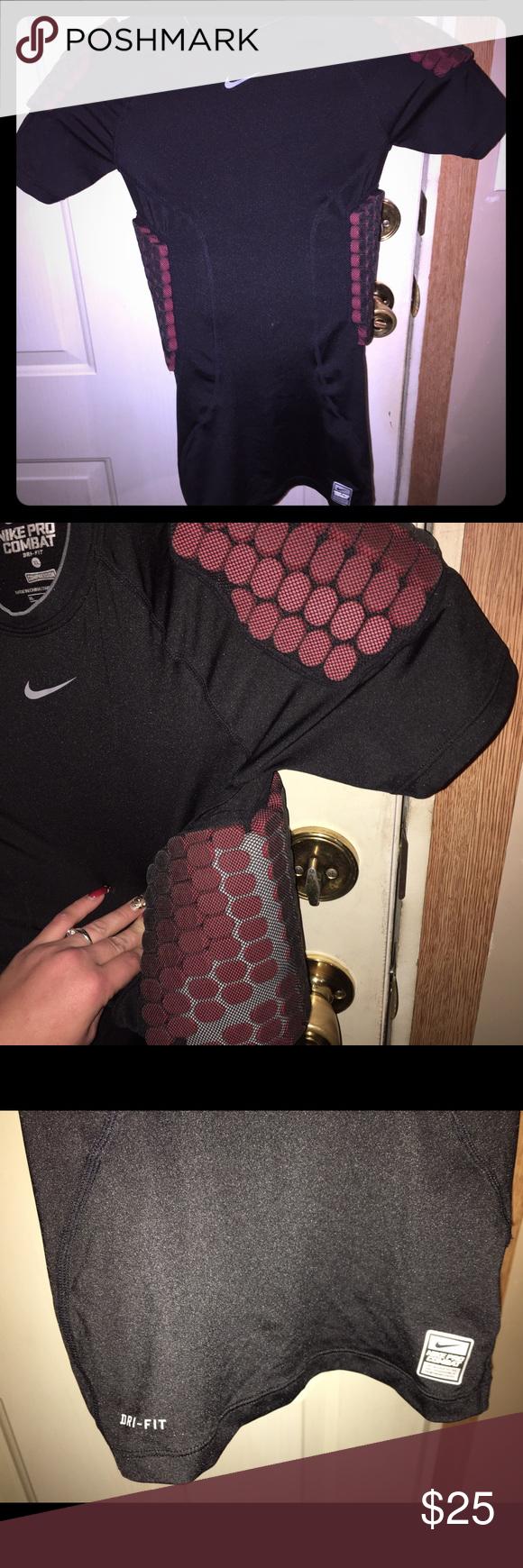 🏃Nike Combat Padded Football Shirt🏃 NWOT Boys Under Armor Padded compression Shirt Nike Other