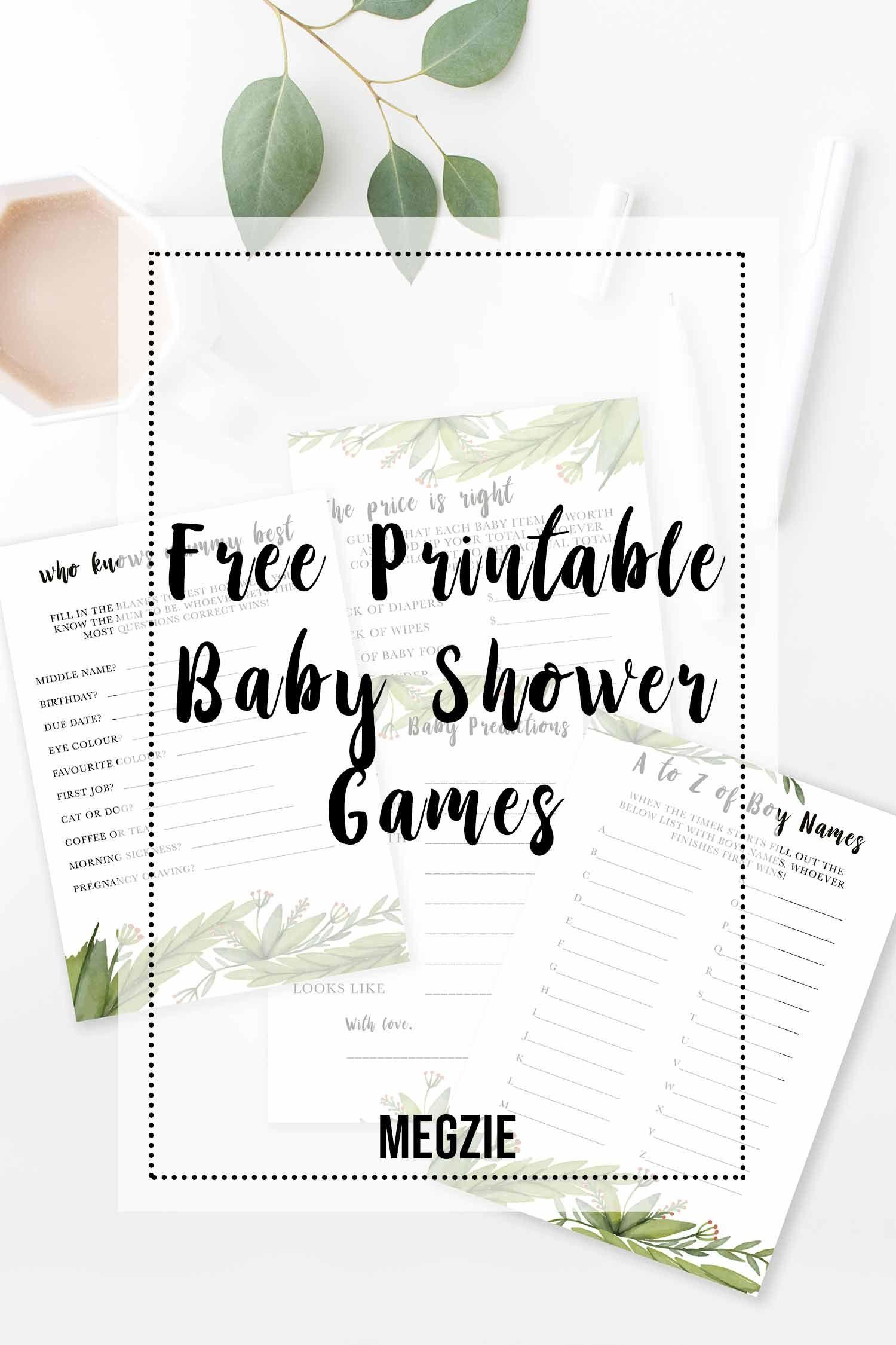 Free Printable Baby Shower Games Babyshower