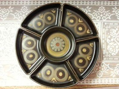 Vintage 1960/'s Mid Century Denby England Samarkand Arabesque 4.25 Hors d/'Oeuvre Dish