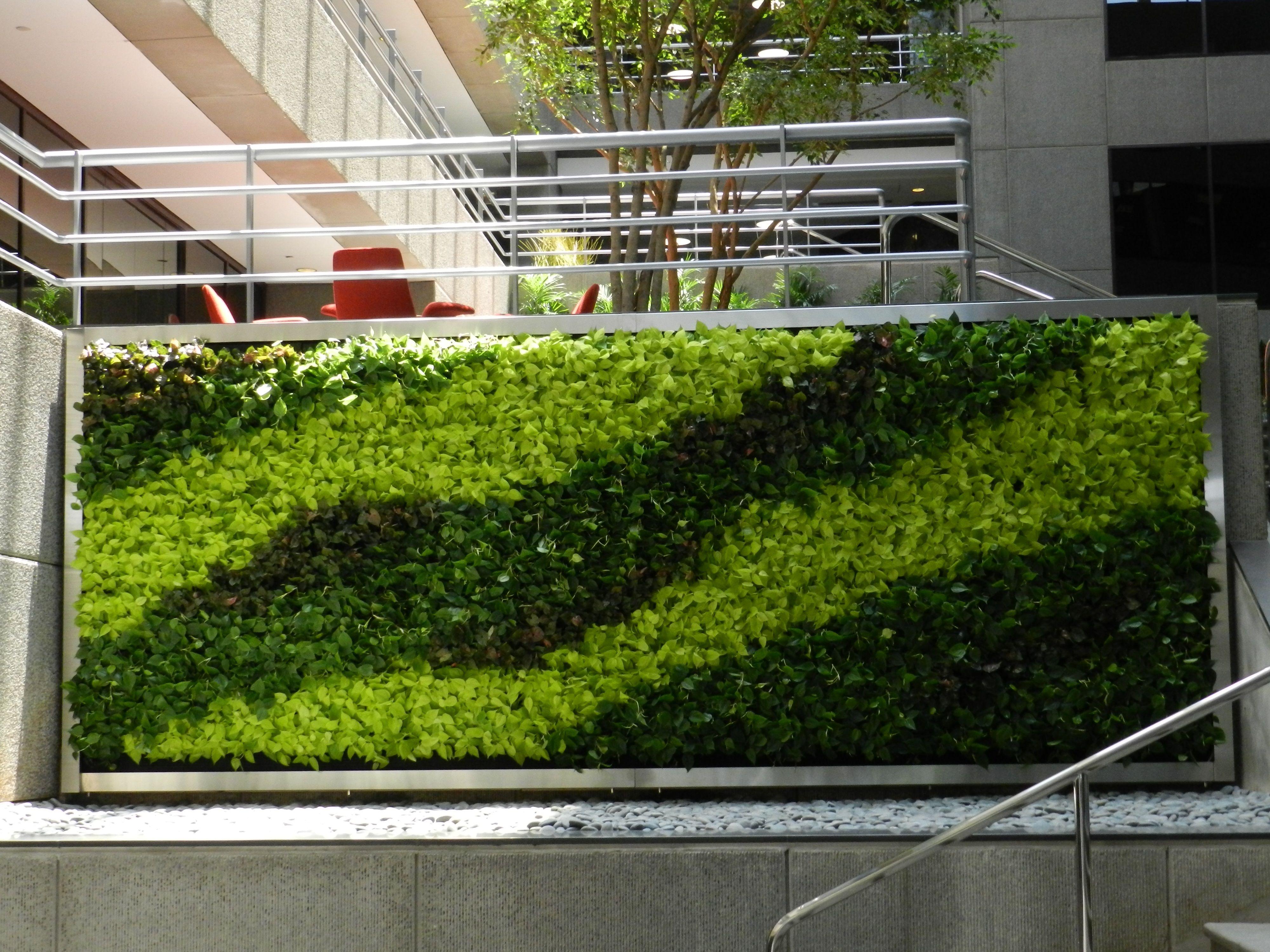 Green Wall (Vertical Garden) Design Outside Office Building