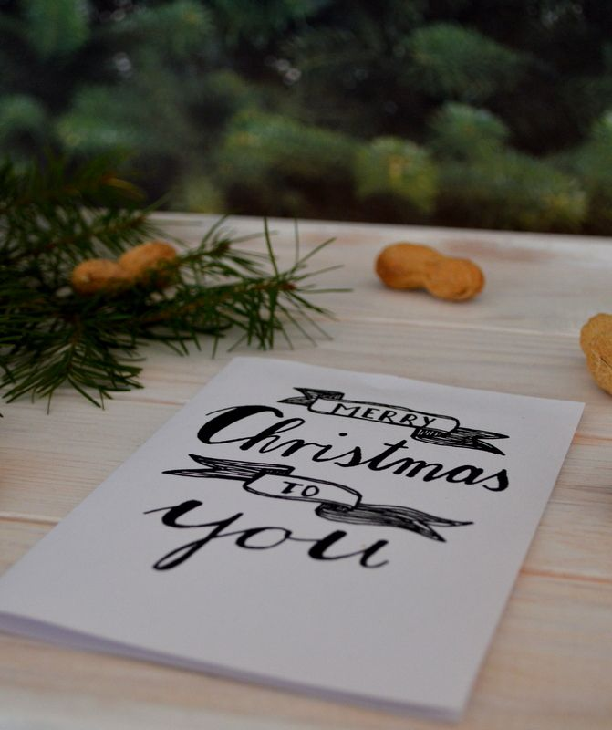 Illustrierte Weihnachtskarten Freebies | goodiys.com