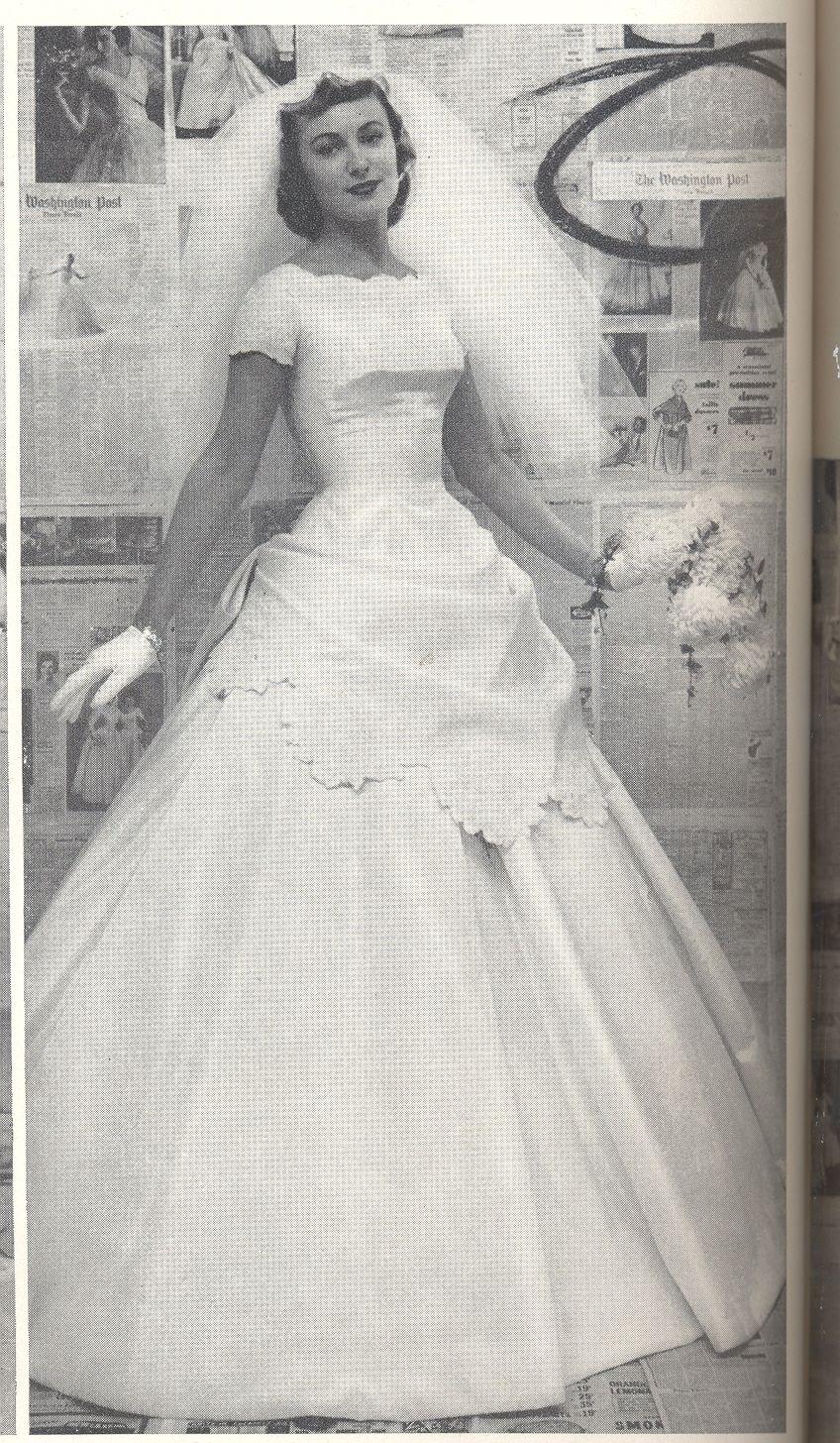 From winter 1957, Alfred Angelo vintage designer fashion bride ad ...