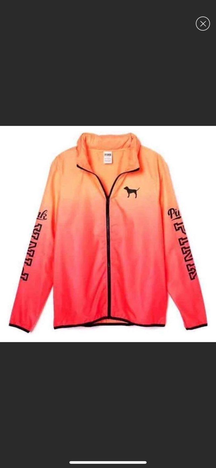 Victoria S Secret Vs Pink Ombre Ombre Long Sleeve Anorak Windbreaker Jacket Size Xs S Xs S Small Pink Orange An Anorak Windbreaker Jacket Cute Comfy Outfits [ 1600 x 739 Pixel ]