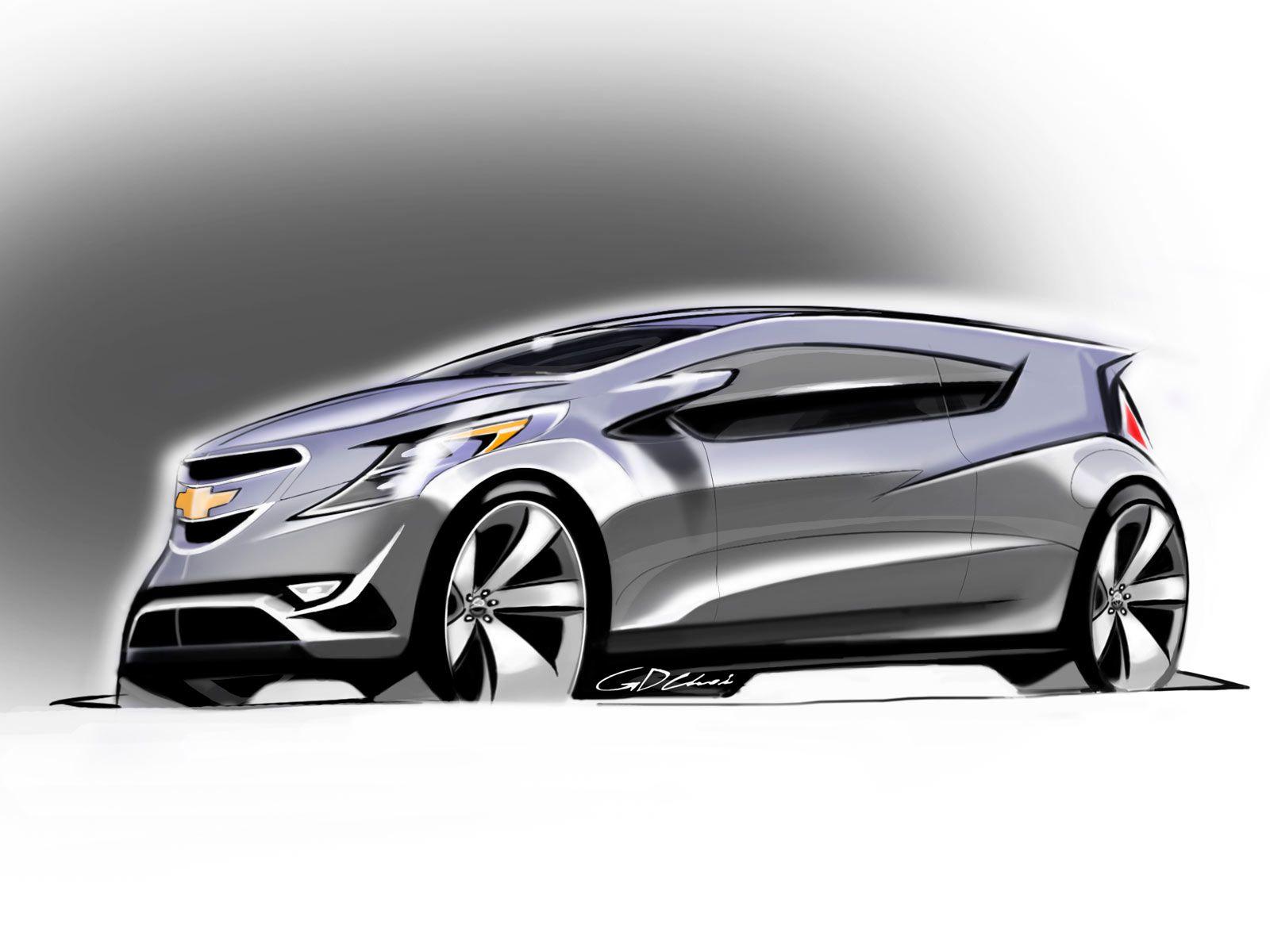 Chevrolet Spark Design Sketch Chevrolet Spark Chevrolet Volt