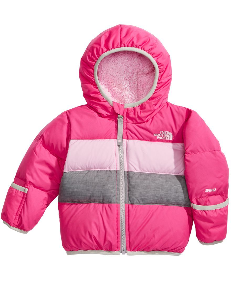 The North Face Moondoggy 2 0 Hooded Puffer Jacket Baby Girls 0 24 Months Jackets Puffer Jackets Kids Jacket [ 1080 x 884 Pixel ]