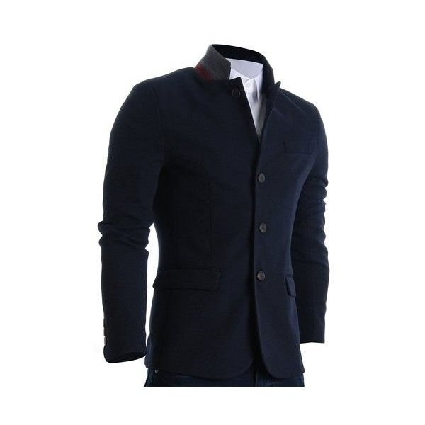 Mens Slim Casual Waffle Fabric Blazer Jacket (£40) found on Polyvore