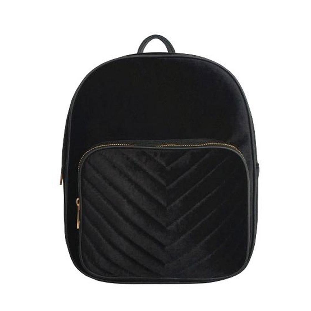 e3c570834454 Frankie Velvet Backpack - Black