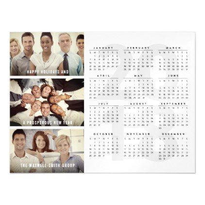 2018 Calendar Holiday New Year Magnetic Photo Card - invitations