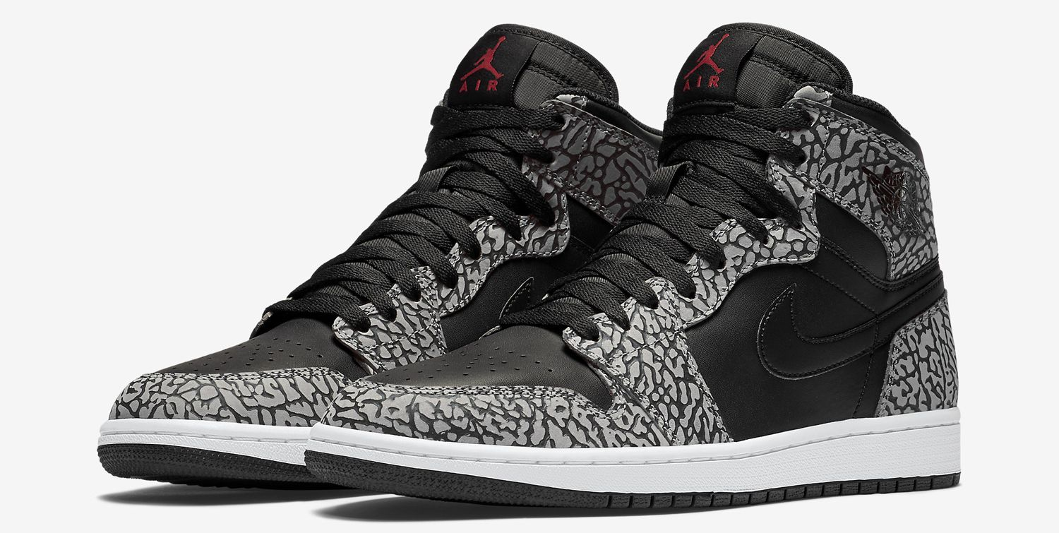 reputable site 9adec a8a26 Air Jordan 1s Get Covered in Elephant Print | Sneaker Brain ...