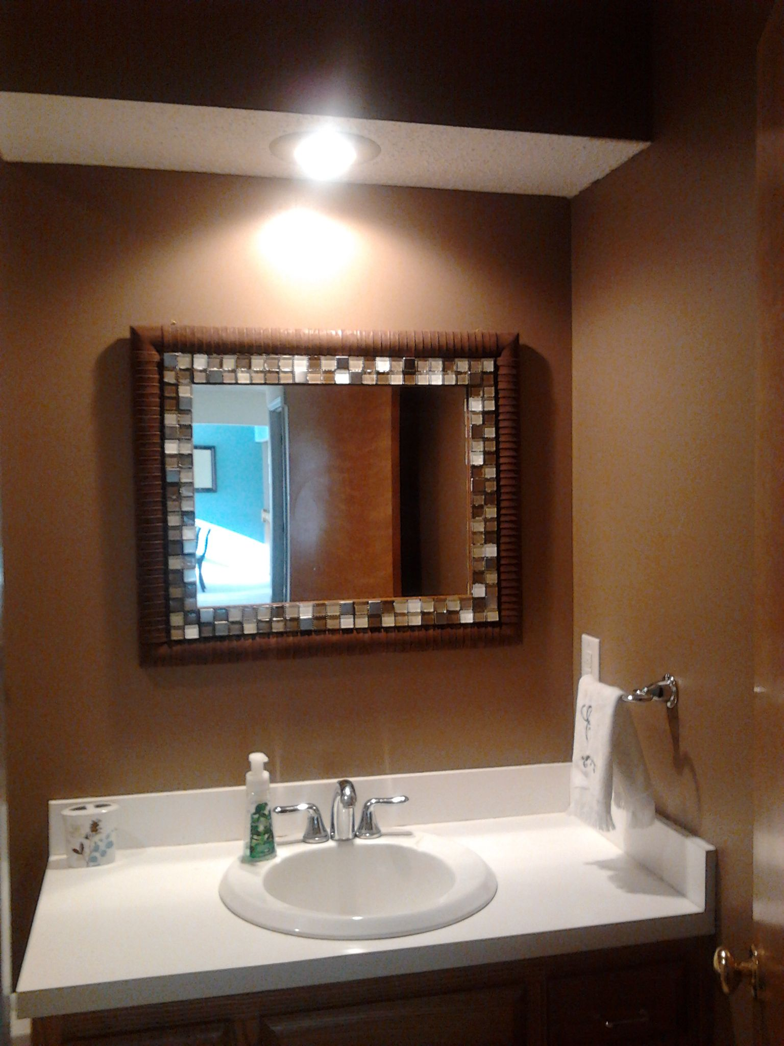 After Adding Sherwin Williams Nuthatch Paint And The Mirror I