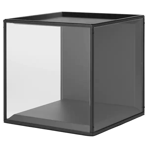 Sammanhang Vitrine Avec Couvercle Noir Verre Ikea Ikea Glass Display Box Display Boxes