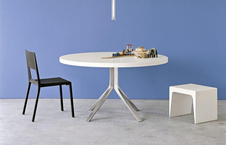 kompakter runder esstisch in weiß und alu | zukünftige projekte, Esstisch ideennn