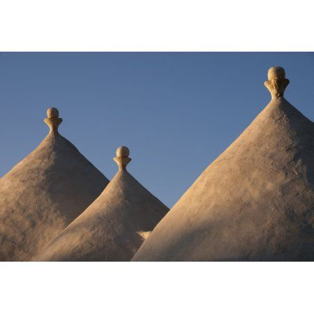 Trulli Roofs In Puglia Italy Europe Canvas Art - Heather Elton Design Pics (18 x 12)