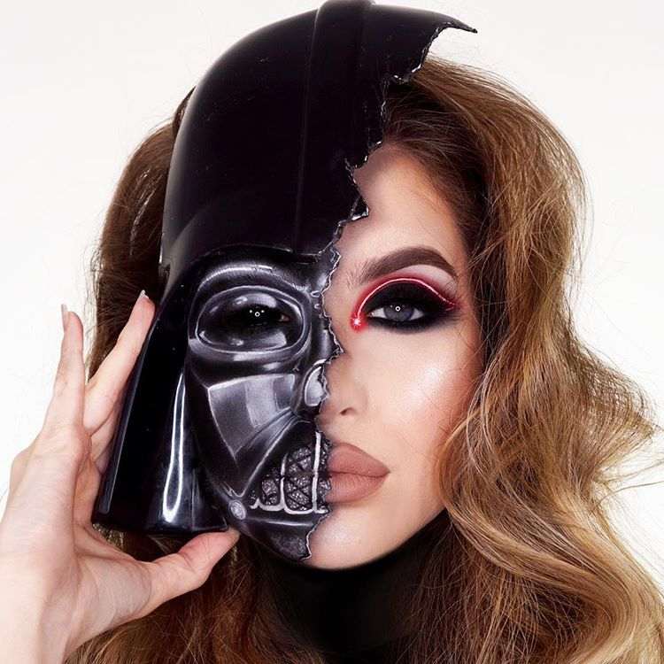 Abby Roberts On Instagram May The 4th Be With You This Is Makeup Happy Star Wars Day I Had To Do A Darth Vader Look Star Wars Makeup Makeup Sith Makeup