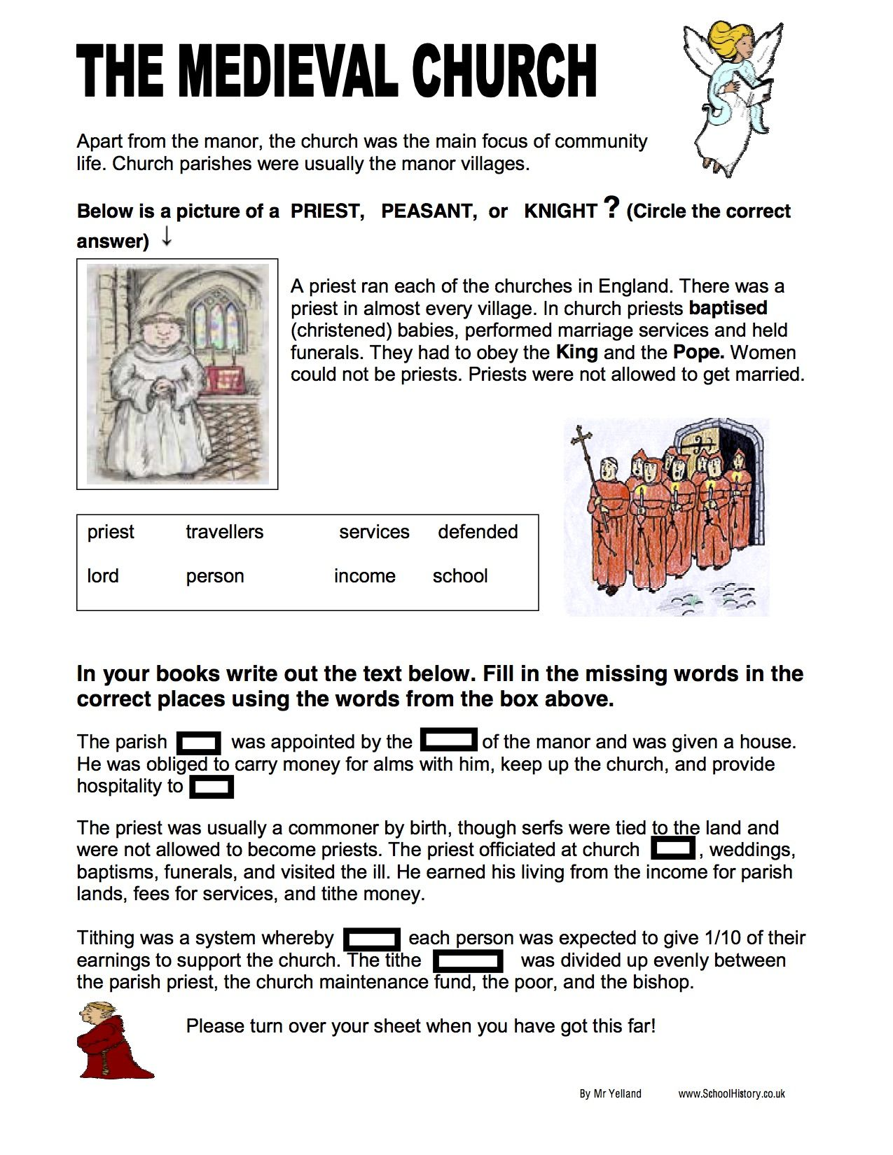 1st Grade Cloze Worksheet