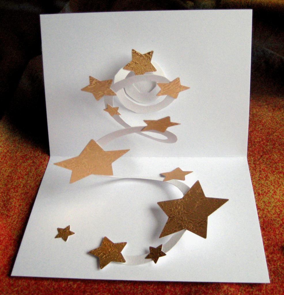 Pop Up Karte 3d Karte Sternenhimmel By Rosaly Handgefertigte Pop