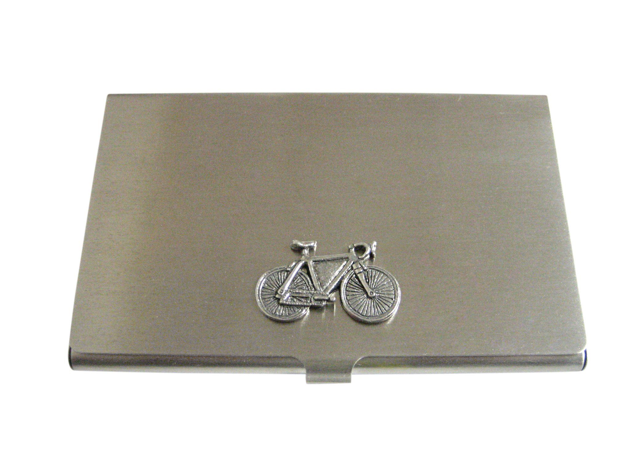 Silver Toned Textured Bicycle Business Card Holder | Business card ...