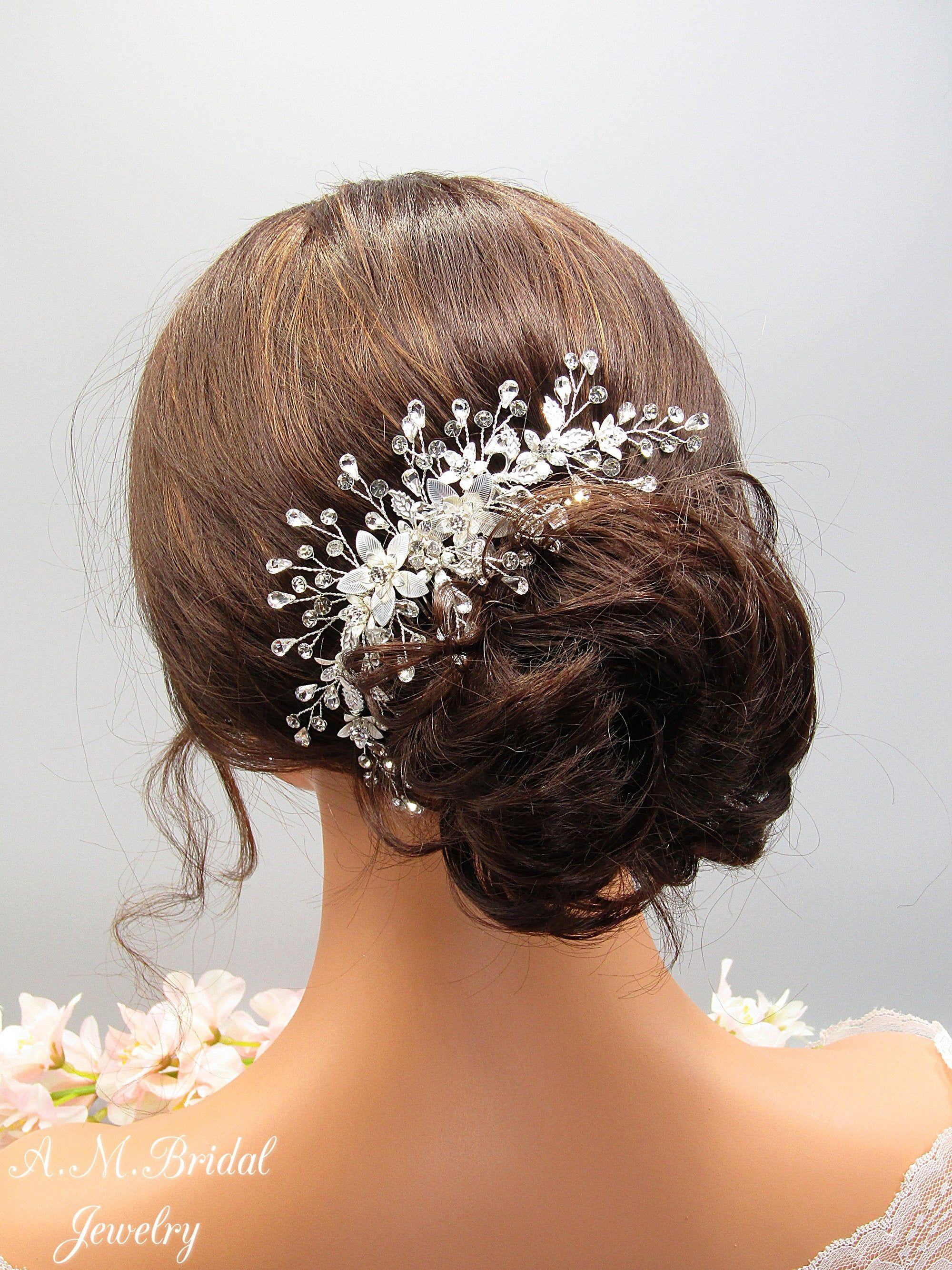 Titanium Crystals Hair Pins Crystal Crown  Bridal Crystal  Crystal Hair Pins Bridal Hair Pins  Crystal Hair Jewelry  Witchy