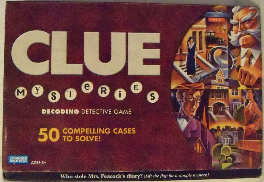 Clue Mysteries Decoding Detective Game 50 Compelling