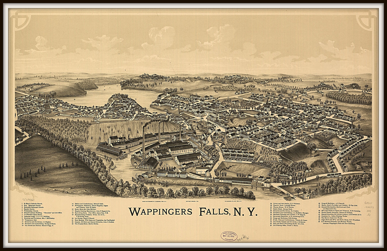 20x30 San Francisco California 1875 Historic Panoramic Town Map