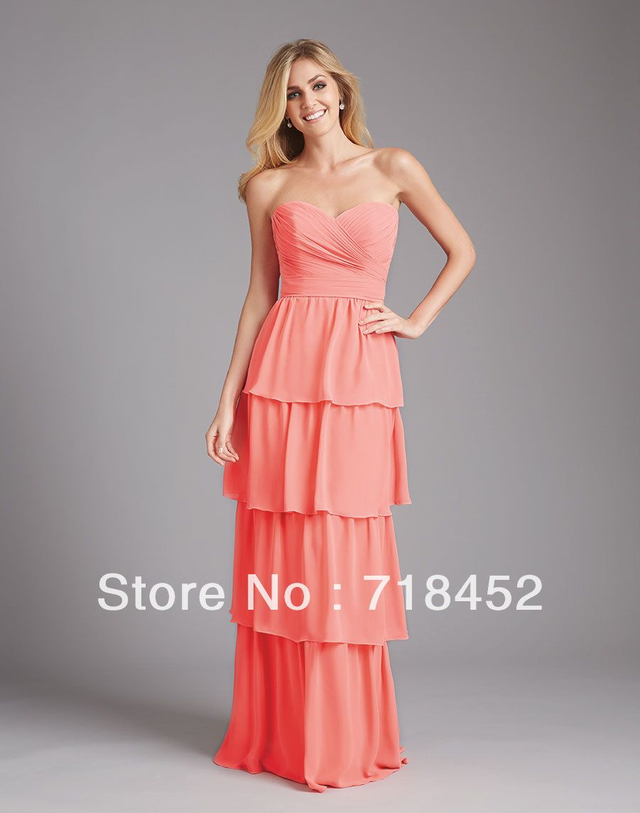 Click to buy ucuc new chiffon pink bridesmaids dresses full length off
