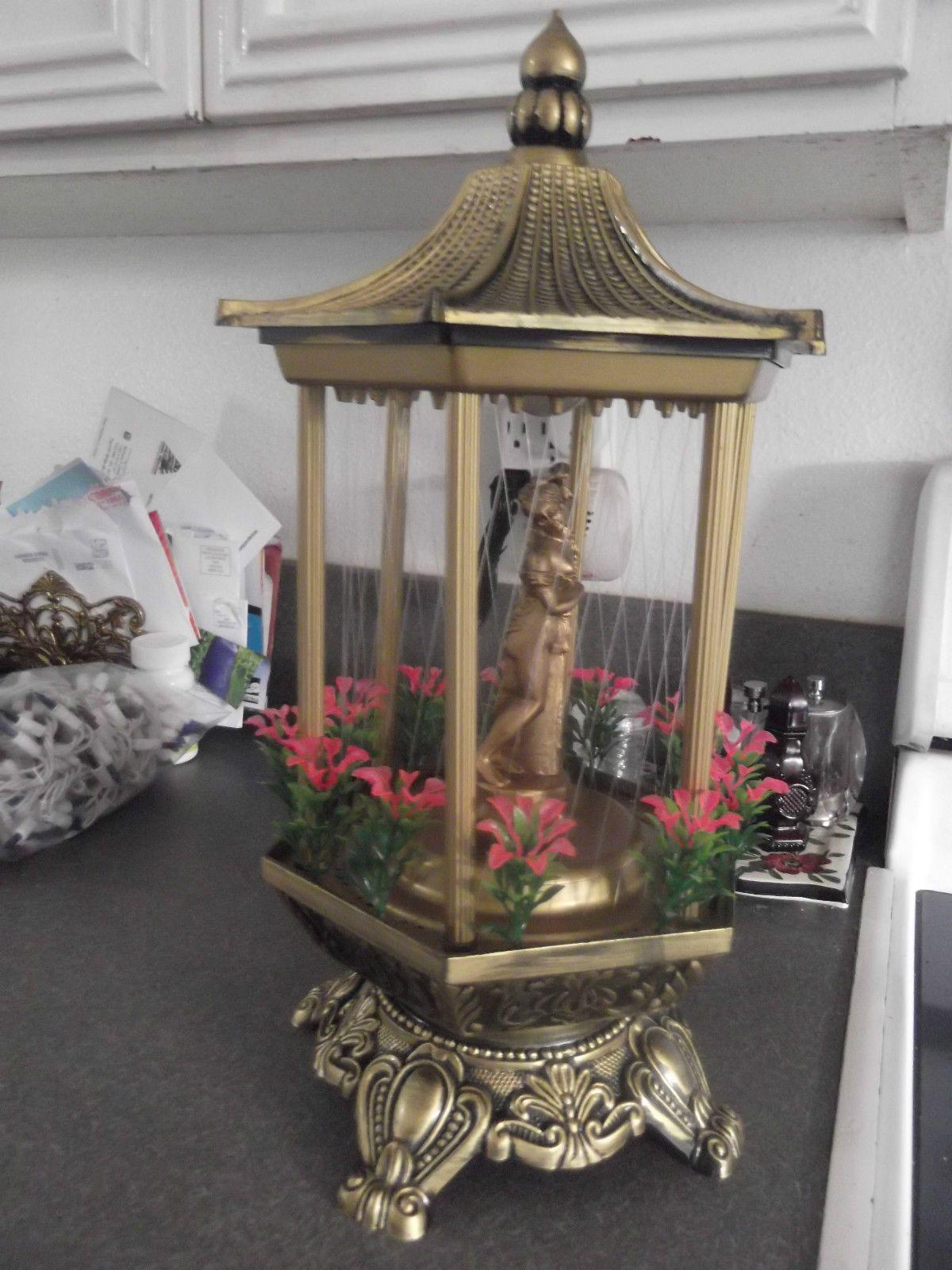 "Vintage 17"" Oil Rain Table Lamp Mid century lamp, Oil lamps"