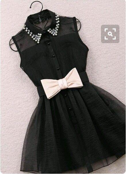 Vestidos color negro con beige