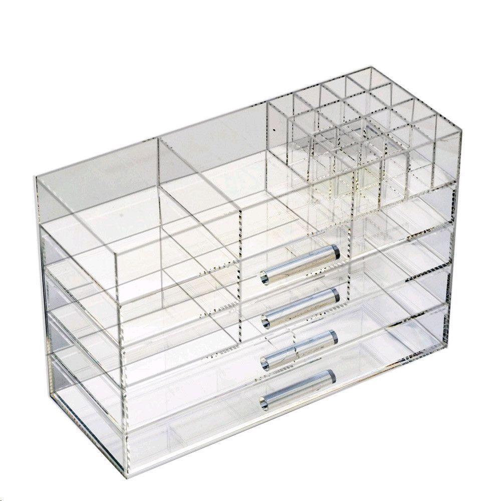 Large acrylic jewelry u cosmetic storage boxes