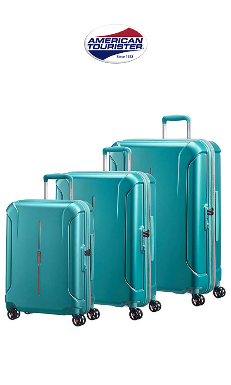 baaddfdb6 American Tourister - Technum 3 Piece Hardside Spinner Luggage Set | Jade  Green | Click for