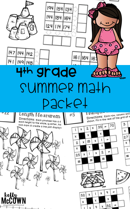 Summer Math Review for Grade 4  Engage and have fun with