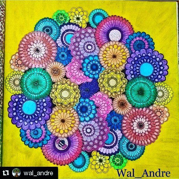 Muito Alegre o colorido de @wal_andre with @repostapp  Jardim secreto... #flores #jardimsecreto #livrodecolorir #livroparacolorir #amocolorir #prazeremcolorir #livros_coloridos #coloriramo by prazeremcolorir