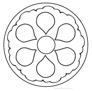 Mandala facil para mandalas f ciles para colorear pinterest - Mandala facile ...